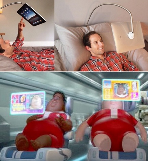 iPad people v.s. Wall-E fat people
